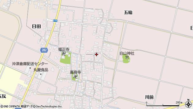 山形県寒河江市日田355周辺の地図