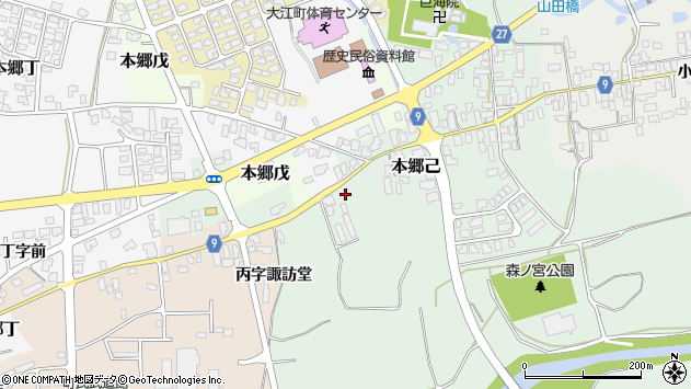 山形県西村山郡大江町本郷己138周辺の地図