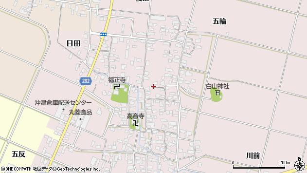 山形県寒河江市日田347周辺の地図