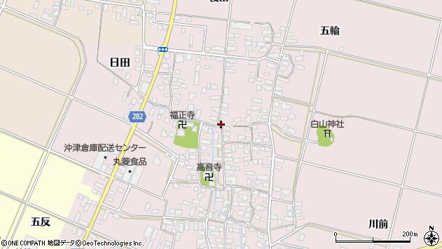 山形県寒河江市日田349周辺の地図