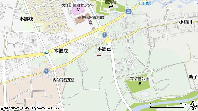 山形県西村山郡大江町本郷己651周辺の地図