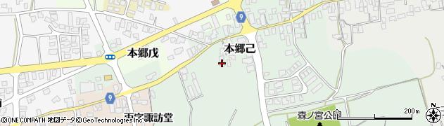 山形県西村山郡大江町本郷己134周辺の地図