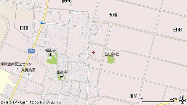 山形県寒河江市日田楯越324周辺の地図