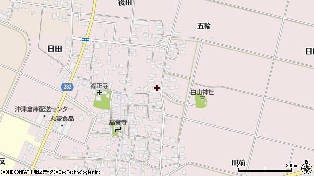 山形県寒河江市日田345周辺の地図