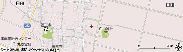 山形県寒河江市日田楯越322周辺の地図