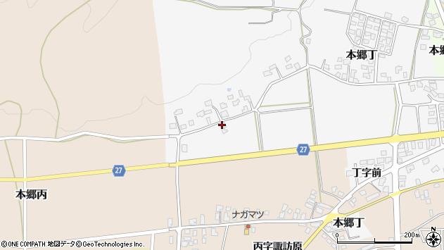 山形県西村山郡大江町本郷丁105周辺の地図
