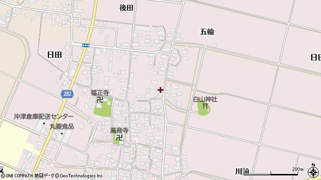 山形県寒河江市日田333周辺の地図