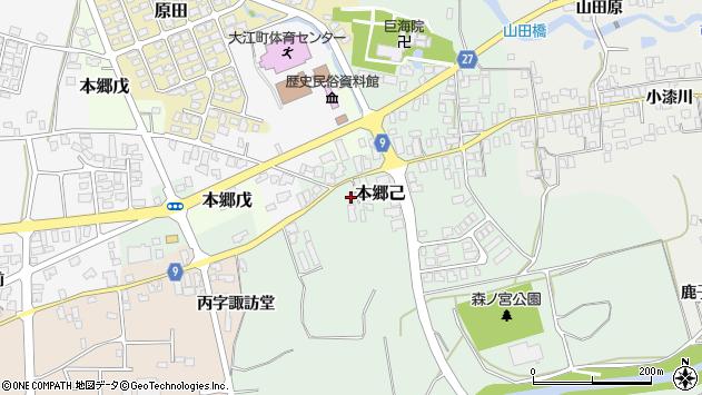 山形県西村山郡大江町本郷己135周辺の地図