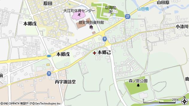 山形県西村山郡大江町本郷己652周辺の地図