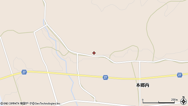 山形県西村山郡大江町本郷丙56周辺の地図
