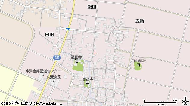 山形県寒河江市日田343周辺の地図