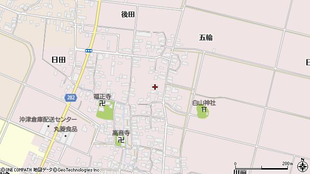 山形県寒河江市日田331周辺の地図