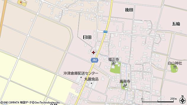山形県寒河江市日田弓貝16周辺の地図