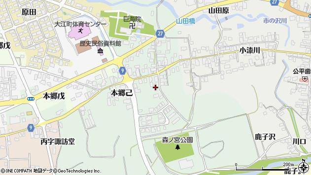 山形県西村山郡大江町本郷己108周辺の地図