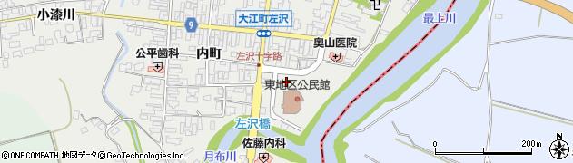 山形県西村山郡大江町左沢東町周辺の地図
