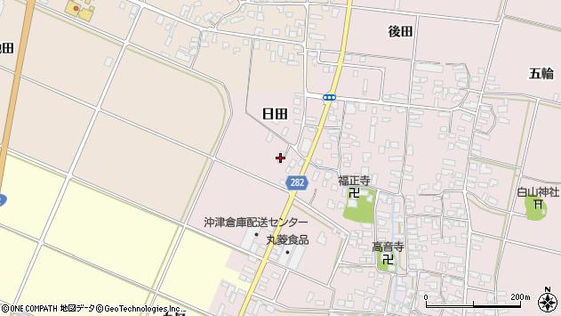 山形県寒河江市日田弓貝15周辺の地図