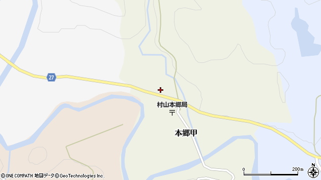 山形県西村山郡大江町本郷甲145周辺の地図