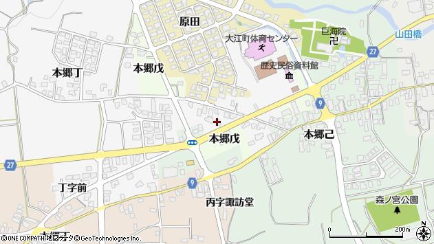 山形県西村山郡大江町本郷丁7周辺の地図