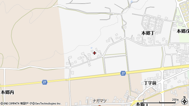 山形県西村山郡大江町本郷丁222周辺の地図