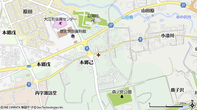 山形県西村山郡大江町本郷己101周辺の地図