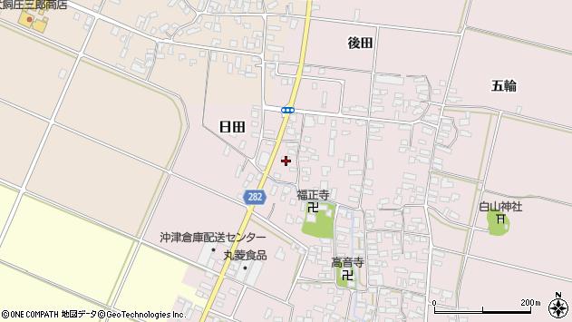 山形県寒河江市日田303周辺の地図