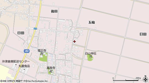 山形県寒河江市日田楯越178周辺の地図