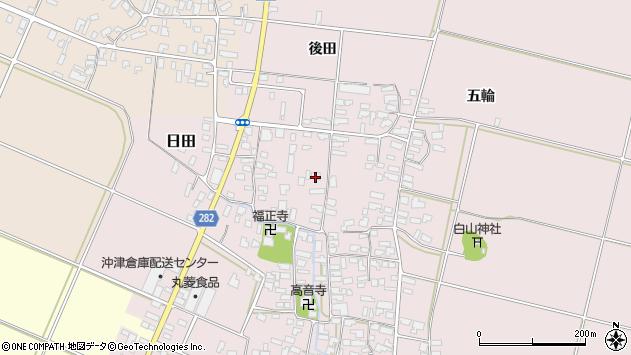 山形県寒河江市日田319周辺の地図