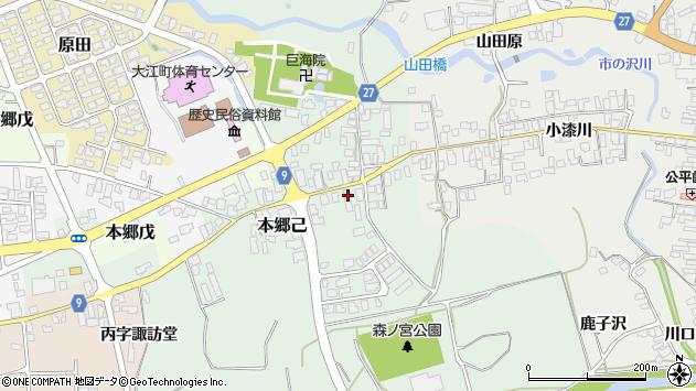 山形県西村山郡大江町本郷己106周辺の地図