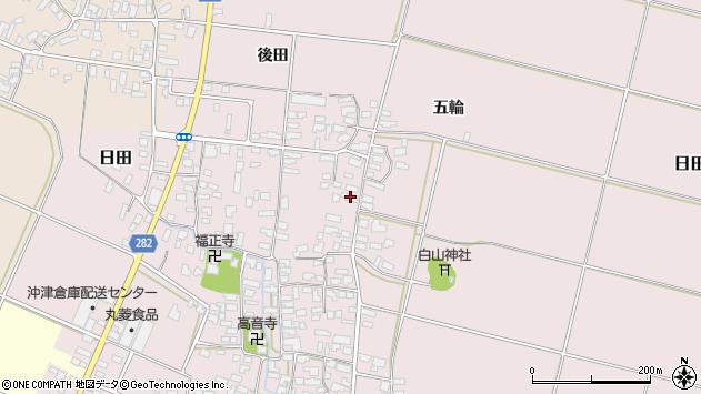 山形県寒河江市日田330周辺の地図
