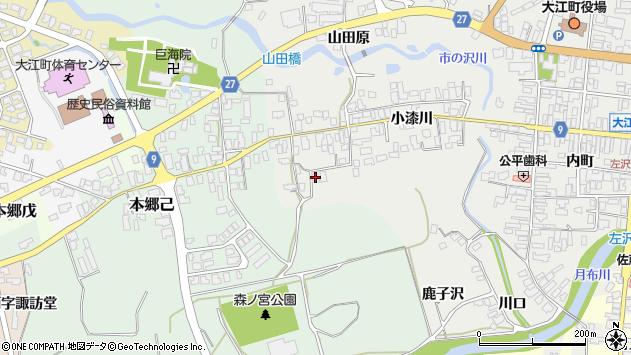 山形県西村山郡大江町左沢661周辺の地図
