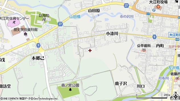 山形県西村山郡大江町左沢660周辺の地図