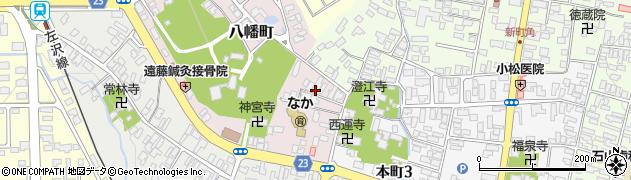 山形県寒河江市八幡町2周辺の地図