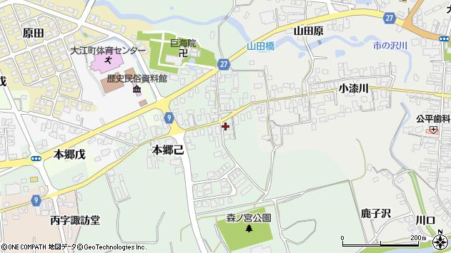 山形県西村山郡大江町本郷己111周辺の地図