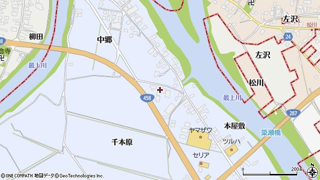 山形県寒河江市中郷1787周辺の地図