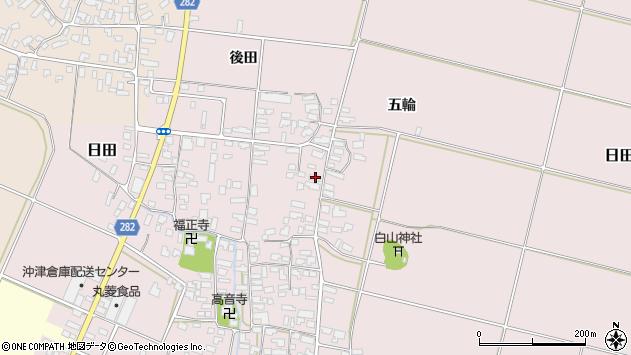 山形県寒河江市日田328周辺の地図
