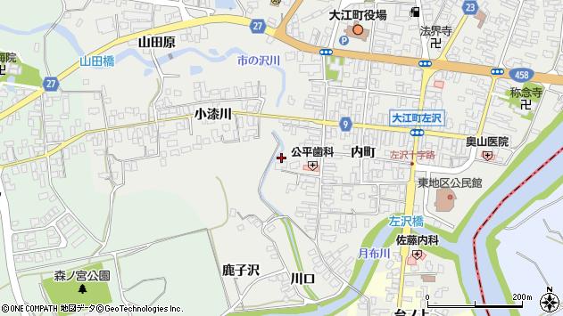 山形県西村山郡大江町左沢御免町周辺の地図