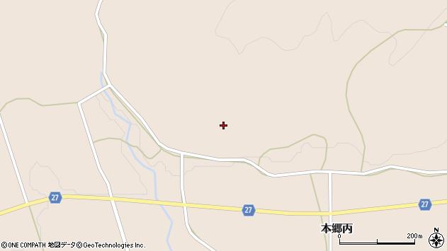 山形県西村山郡大江町本郷丙上北山周辺の地図