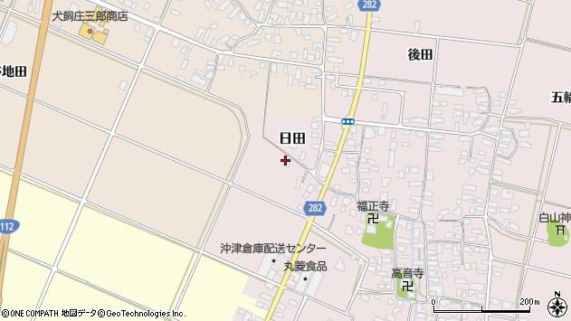 山形県寒河江市日田弓貝6周辺の地図