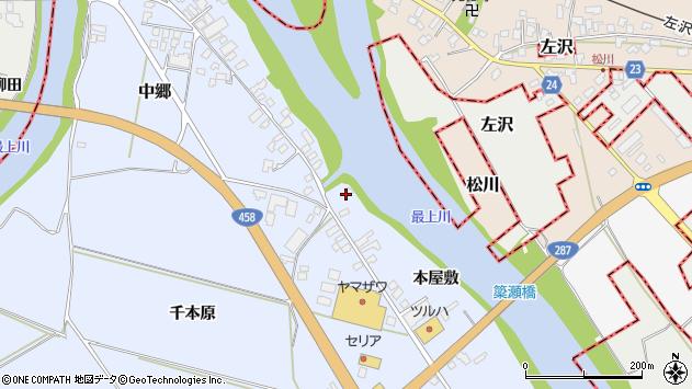 山形県寒河江市中郷2216周辺の地図