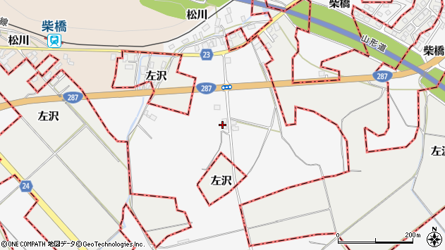 山形県寒河江市柴橋1515周辺の地図