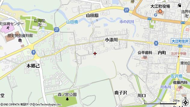 山形県西村山郡大江町左沢641周辺の地図
