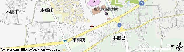 山形県西村山郡大江町本郷丁周辺の地図