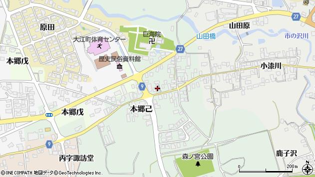 山形県西村山郡大江町本郷己32周辺の地図