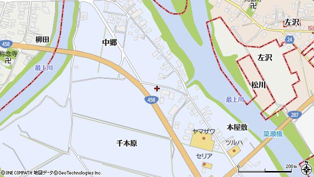 山形県寒河江市中郷1783周辺の地図