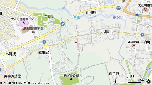 山形県西村山郡大江町左沢674周辺の地図