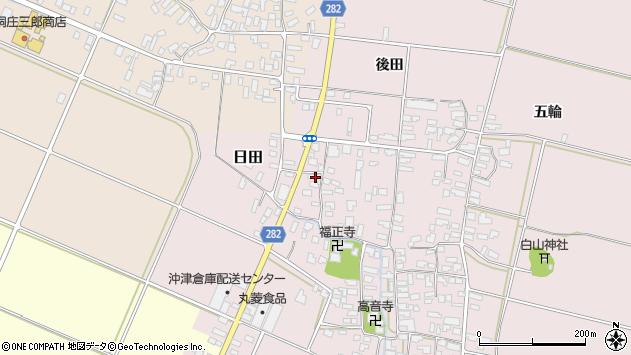 山形県寒河江市日田300周辺の地図