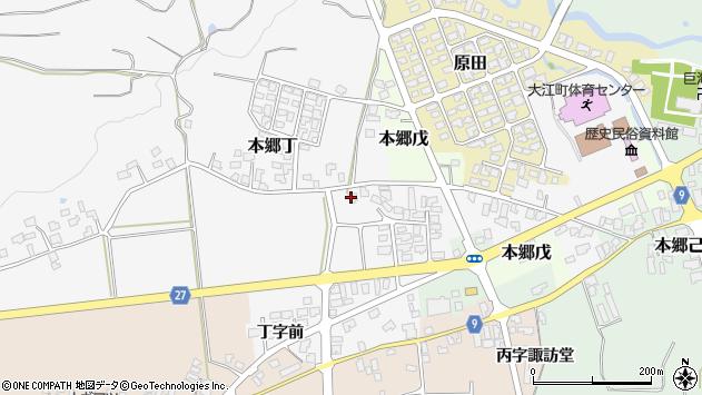 山形県西村山郡大江町本郷丁185周辺の地図