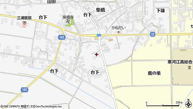 山形県寒河江市柴橋900周辺の地図