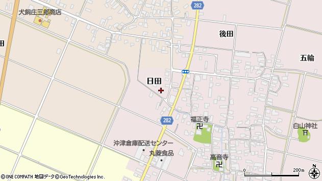 山形県寒河江市日田112周辺の地図