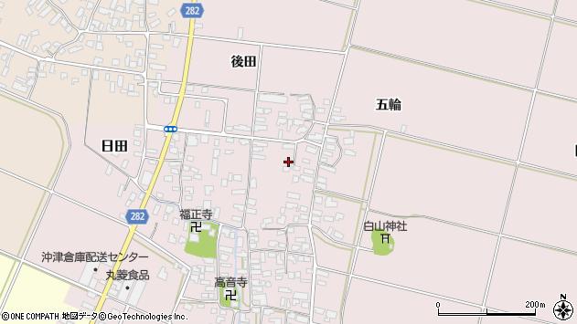 山形県寒河江市日田339周辺の地図